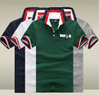 New Fashion Mens Cotton Polo Shirts Sports Leisure Solid Color Tops T-shirt-UKEW