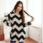 Women Loose Casual Stripe Long Sleeve Shirt Tops lady O-Neck Blouse Reliable
