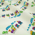 Little choo choo childrens train fabric 100% COTTON POPLIN craft FQ/ 1/2m/ metre