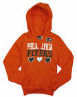 NHL Hockey Kids   Youth Girls Philadelphia Flyers Split Neck Hoodie - Orange