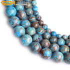 "Round Blue Crazy Lace Agate Jewelry Making Gemstone Beads Strand 15"" 4-14mm Pick"