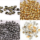 200Pcs Silver/Golden End Crimp Beads Knot Covers Jewelry Findings Crafts.