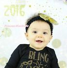 Gold Silver Sparkle Kid Baby Girl Hair Pin Clip Bow Headband Accessory 2PC