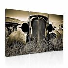 CAR Transport Canvas Framed Printed Wall Art 14 ~ 3 Panels