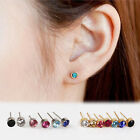 1 Pair Fashion Girls Cute Simple Alloy Small Crystal Ear Stud Earrings Jewelry