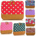Fashion Polka Dots Padded Pouch Sleeve Carry Case Cover Stand for Apple iPad 2 3