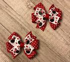 Red Glitter Minnie Mouse Toddler Hair Bow Set
