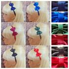 ♥ SMALL BOW SATIN FABRIC ALICE HAIR BAND HEADBAND 50s GLAMOUR 80s RETRO SCHOOL