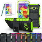 Rugged Armor Hybrid Case Cover+LCD Fr Samsung Galaxy Core Prime Prevail LTE G360