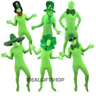 ST PATRICKS DAY GREEN SKIN MORPH SUIT IRELAND IRISH FANCY DRESS COSTUME OUTFIT