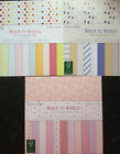 72 SHEET FULL PACK DOVECRAFT BACK TO BASICS CARD MAKING CRAFT BACKING PAPER