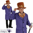Boys Childs Willy Wonka Factory Owner Book Week Day Fancy Dress Costume Outfit