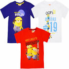 Childrens Minions T Shirt New Official Disney Film Kids Cotton Despicable Me Top
