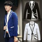 New Stylish Men's Casual Slim Fit One Button Suit Blazer Coat Jackets Tops A8926
