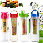800ML Sports Lemon Juice Flip Lid Bottle Fruit Infusing Infuser Water Bottle Cup