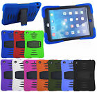 For iPad - SURVIVOR STYLE DUAL LAYER SILICON SHOCKPROOF PROTECTIVE CASE COVER