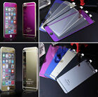 TEMPERED GLASS FOR IPHONE 4 4S 5 5S 5C 6 6+ COLORS  FRONT BACK SCREEN PROTECTOR