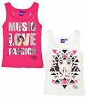 Girls Disney Violetta Vest Kids Summer Top Pink White New Age 6 8 10 12 Years