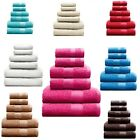 6PC GUEST TOWEL GIFT SET * PURE 100% COTTON FACE HAND BATH TOWELS SALON