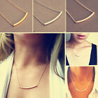 New Fashion Trendy Gold&silver Ol Horizontal Tube Noble Simple Bar Bone Necklace