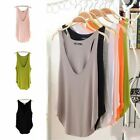 Fashion Women Sexy Deep V Vest Summer Loose Sleeveless Tank T-Shirt Tops