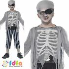 KIDS GHOST SHIP SUIT HAT & EYEPATCH - all ages 4-12 years - boys fancy dress