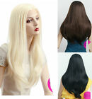 Optional Blonde Brown Black Long Straight Lace Front Wig Hair Cosplay Wig