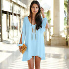 Sexy Lady Summer Casual Party Evening Cocktail Short Mini Dress Chiffon Clothing