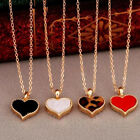 Womens Leopard Heart Shape Charming Gold Filled Necklace Pendant Free Shipping