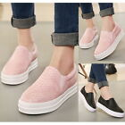 Womens Double Elastic Slip On Loafers Moccasins Flats Casual Round Toe Shoes