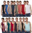 Mens Plain Muscle Strap Vest Mens Cargo Bay 100% Cotton Underwear Sleeveless Top
