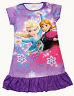 Disney Frozen Elsa Anna Olaf Child Kids Girls Pajama Nightgown Dress Purple 3-10