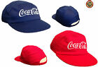 NEW UNISEX Kids Toddlers Coca Cola ELASTICATED Peaked Hat Cap NAVY + RED 48-52CM