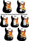 Coloriffic Flame Electric Guitar shape wall plate Switch Outlet Decora Rocker