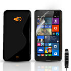 S-Line Silicone Gel Case Cover For Microsoft Lumia 535 & FREE Screen Protector