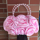 Flower Girl Birthday Party First Holy Communion Rose Pearls Across Handbag