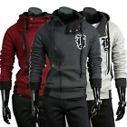 Big Sale Men's Slim Fit Fleece Sweatshirt Hoody hoodie Hooded Jacket Top Coat