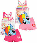 Girls My Little Pony Pyjamas Kids Vest Shorts Pjs Nightwear Set Age 3 - 8 Years