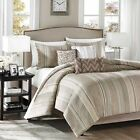 JCPenney Madison Park ROLLINS TAUPE COMFORTER 7 Piece Set Retail up to $259