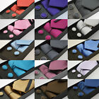 New Mens Tie Box Gift Sets Cufflinks Handkerchief 15 Colours Wedding Party Style
