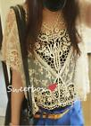 NEW Women's Elegant Lace Sweet Hollow Out Crochet Knit Loose Blouse Tops