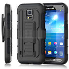 Rugged Armor Hybrid Impact Matte Case Belt Clip Holster Stand Cover For Samsung