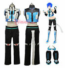 Vocaloid Kaito Blue Cat Kitty Ear Clothing Cosplay Costume Customize+free Wig