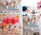 30 Pcs Party Pompoms Wedding Decorations Lanterns Tissue Paper Flowers 3 Sizes