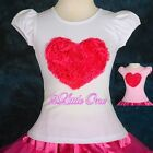 Embossed Heart Pettitop Top T-Shirt Pageant Party Birthday Girl Size 12m-9 #009