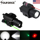 CREE LED Tactical Flashlight &Green/RED Laser Sight Combo Scope Picatinny Mount