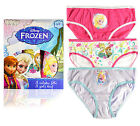 Girls Disney Frozen Knickers Kids 3 Pack Briefs Elsa Anna Cotton Pants 2-8 Years