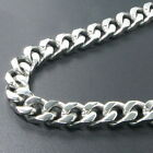 "6""-40"" Stainless Steel Curb Chain Bracelet / Necklace 6mm 8mm 10mm 12mm 1Iw"