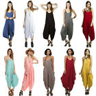 Внешний вид - USA Women Jumpsuit Romper Harem Spaghetti Strap Sleeveless Playsuit Loose Dress