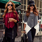 Oversized Womens Swallowtail Batwing Sleeve Loose Irregular Hem Top Blouse Shirt